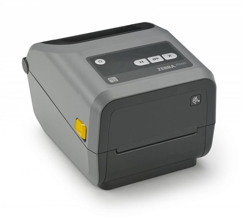 Etikettskrivare, för färgbandspatroner, USB, Bluetooth, LAN, WiFi, TT, Zebra ZD420