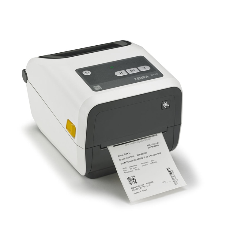 Etikettskrivare för sjukvård, Rengöringstålig, USB, Bluetooth, LAN, WiFi, TT, Zebra ZD420-HC
