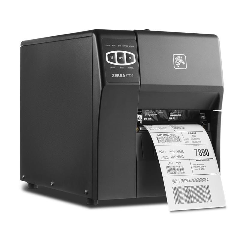 Etikettskrivare, TT (färgband), USB, RS232, LAN (ethernet), Zebra ZT220